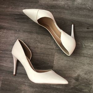 Just Fab Half Past Midnight Pumps White Size 11